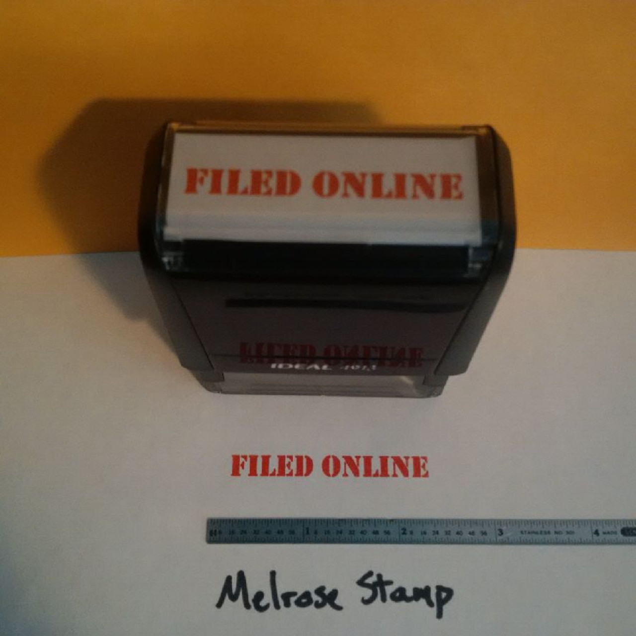 FILED ONLINE Rubber Stamp for office use self-inking