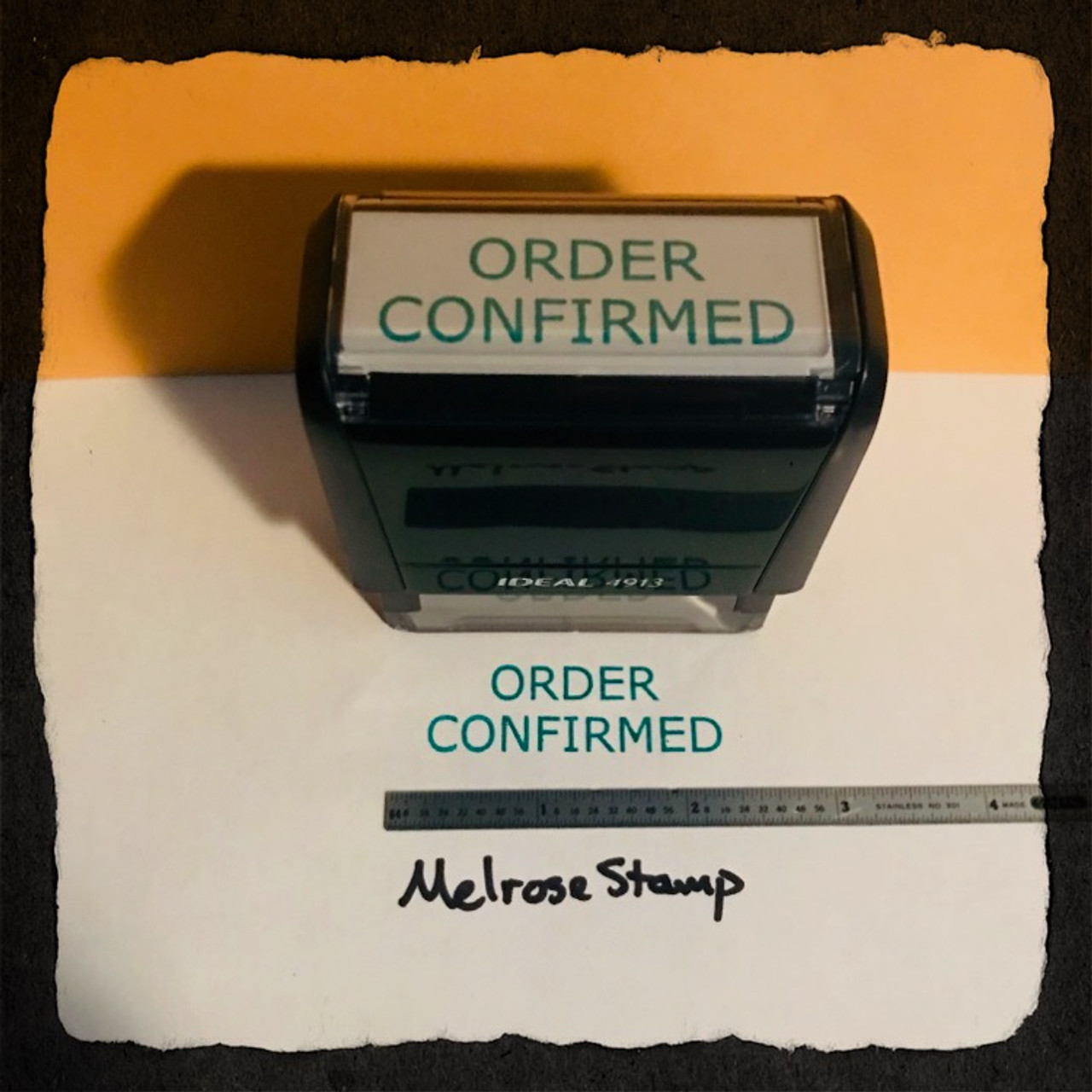 Order Confirmed Stamp Green Ink Large 2