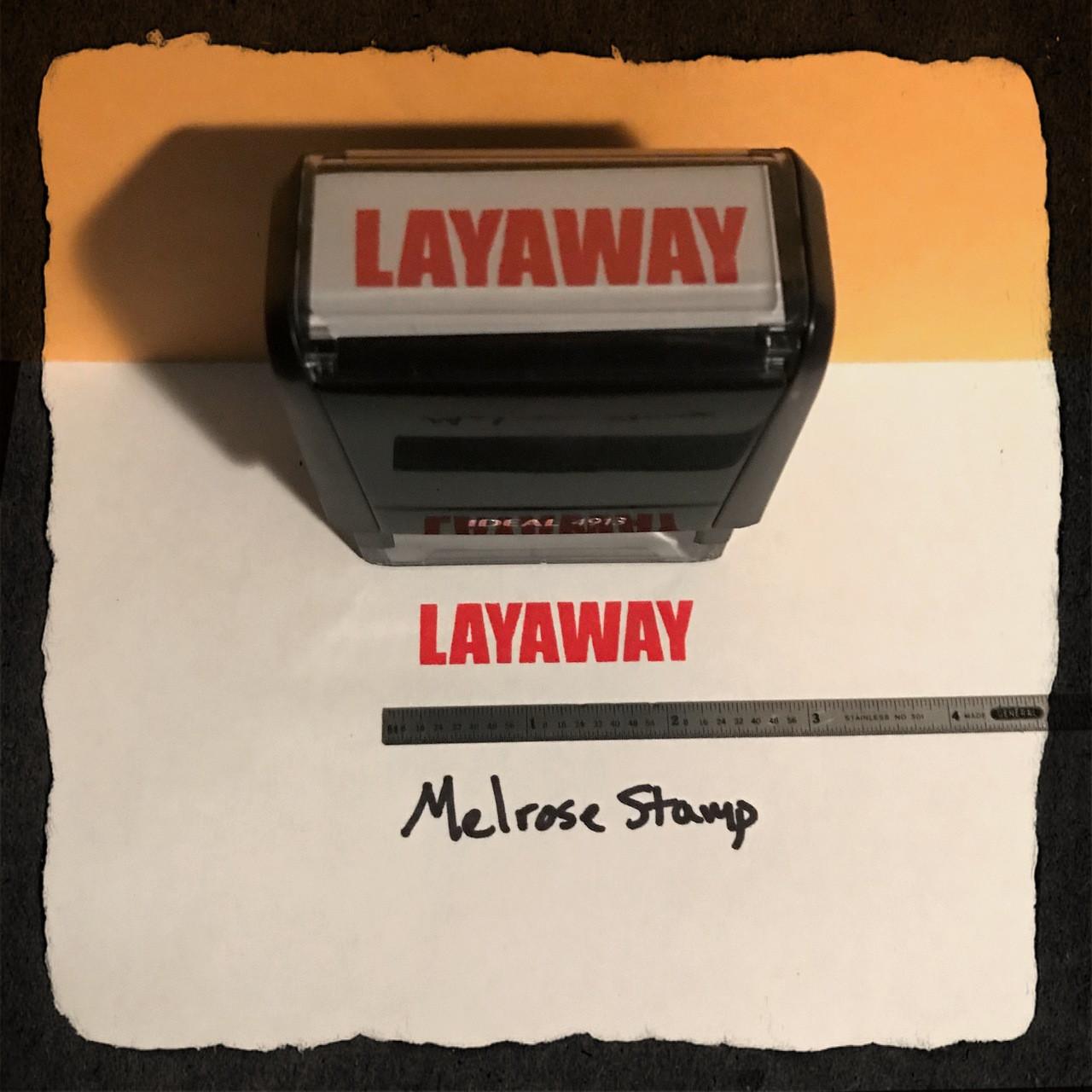 Layaway Stamp Red Ink Large 2