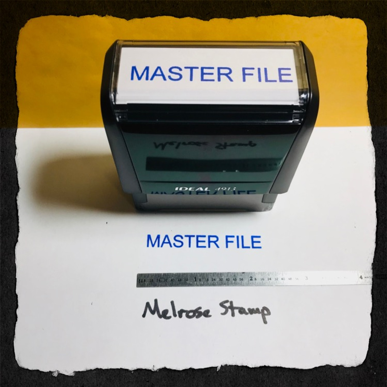 Master File Stamp Blue Ink Large