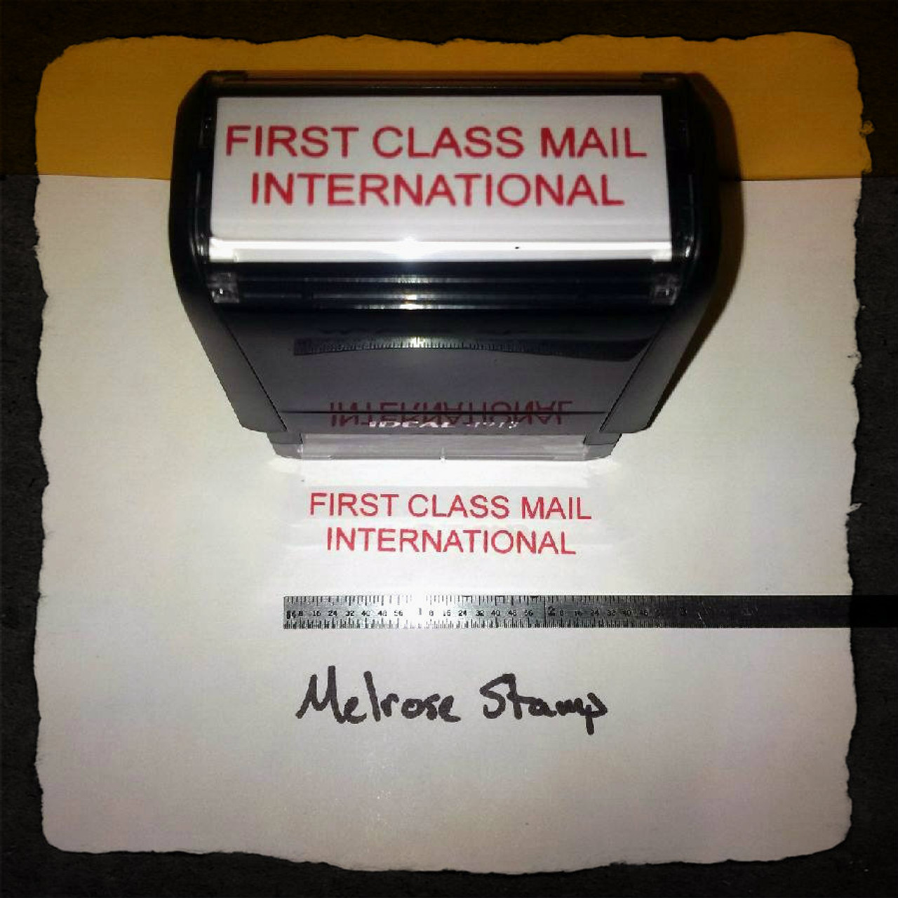 FIRST CLASS MAIL INTERNATIONAL Rubber Stamp for mail use self-inking