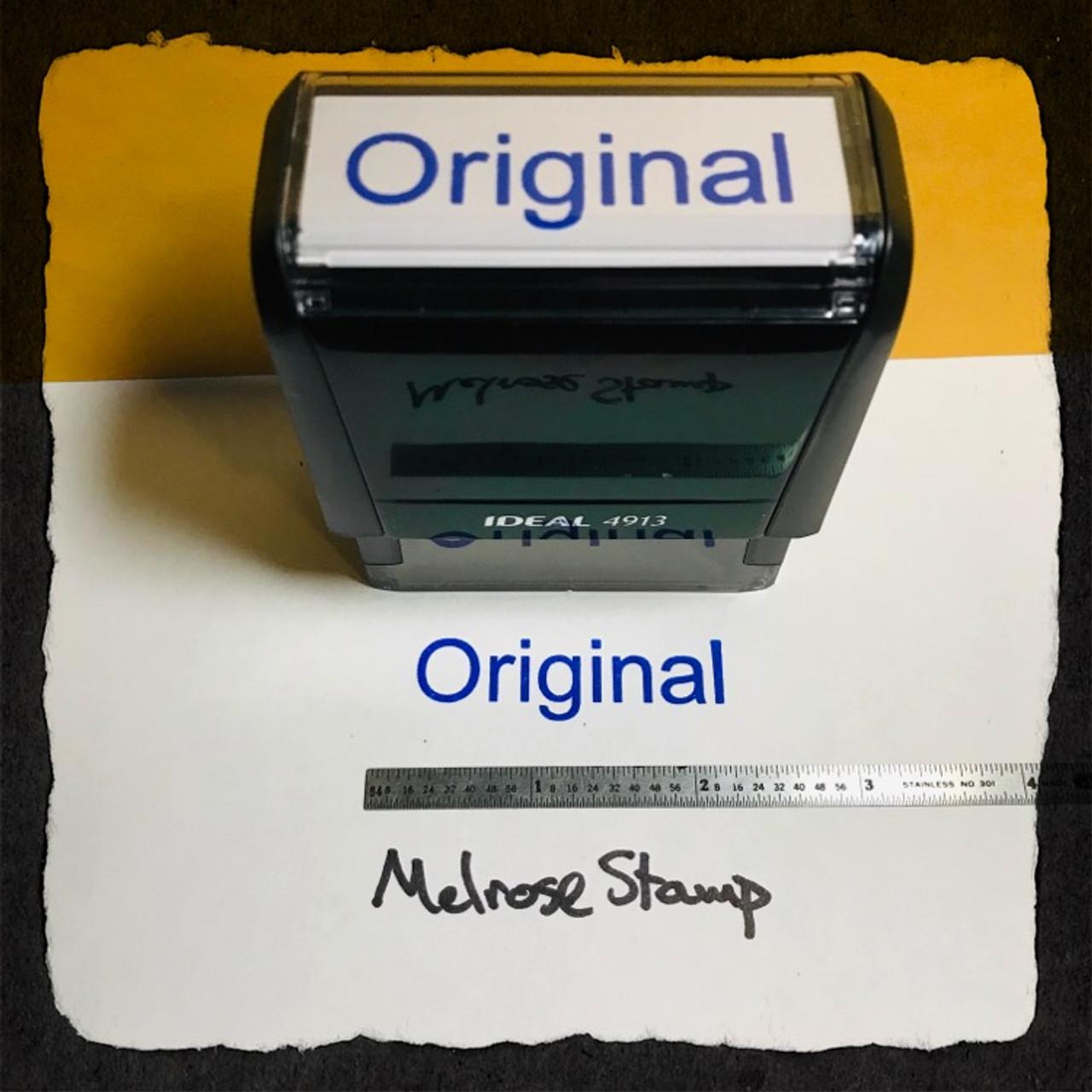 Original Stamp Blue Ink Large