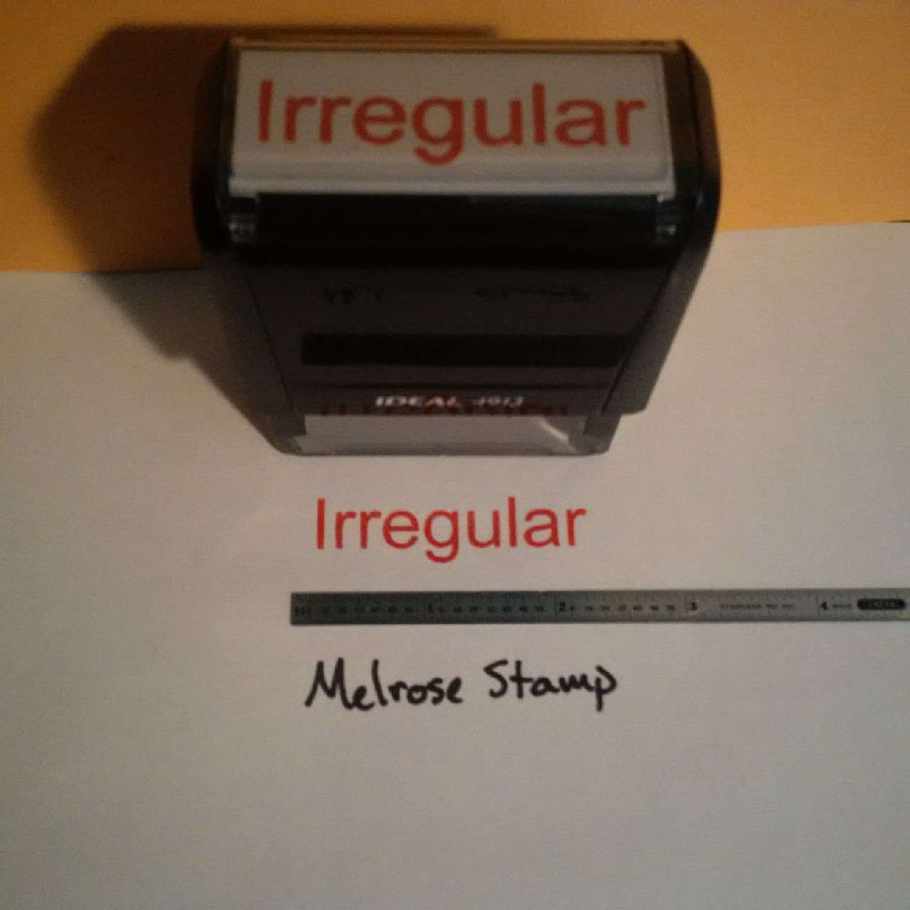 IRREGULAR Rubber Stamp for office use self-inking