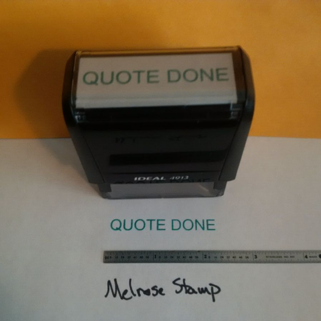 QUOTE DONE Rubber Stamp for office use self-inking