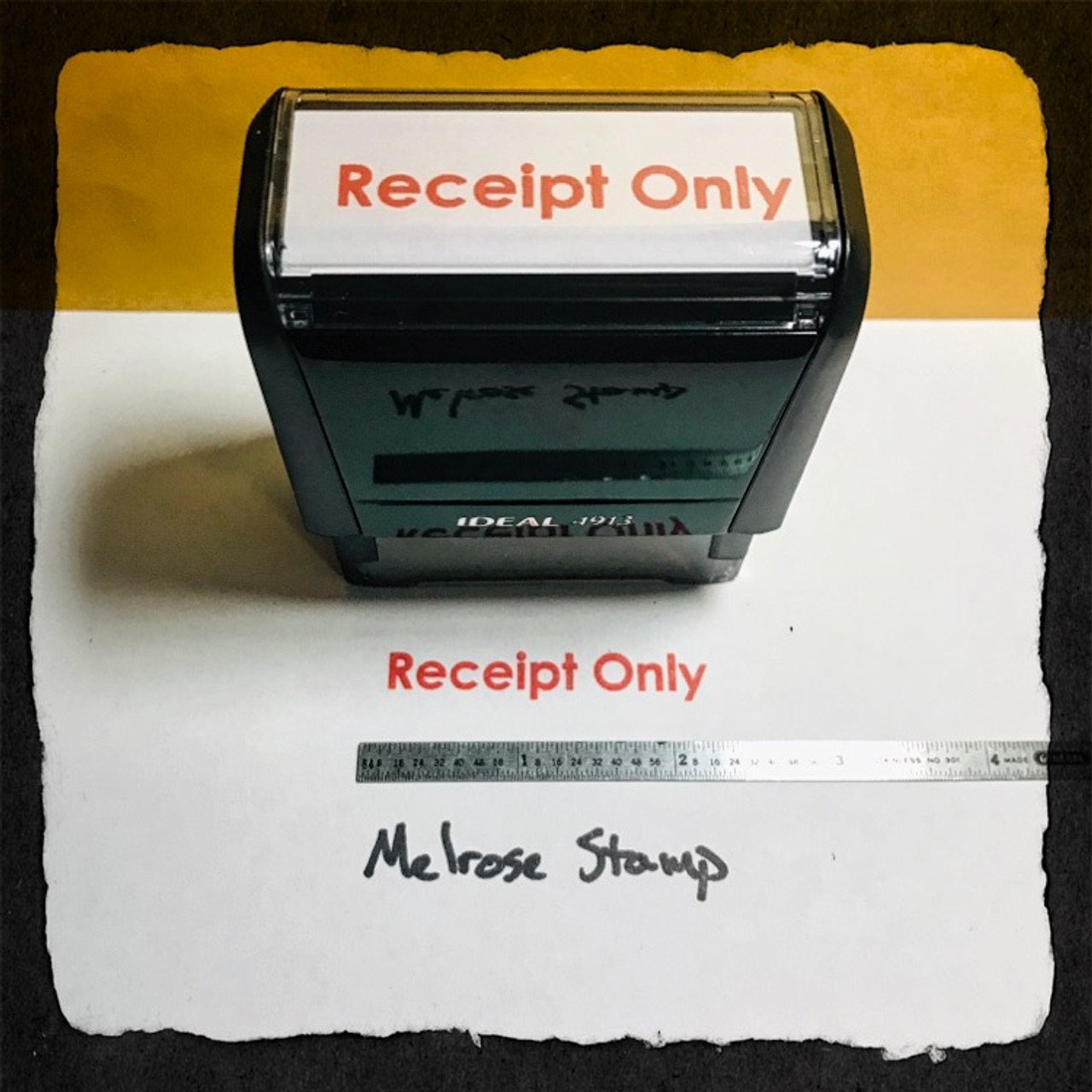 Receipt Only Stamp Red Ink Large
