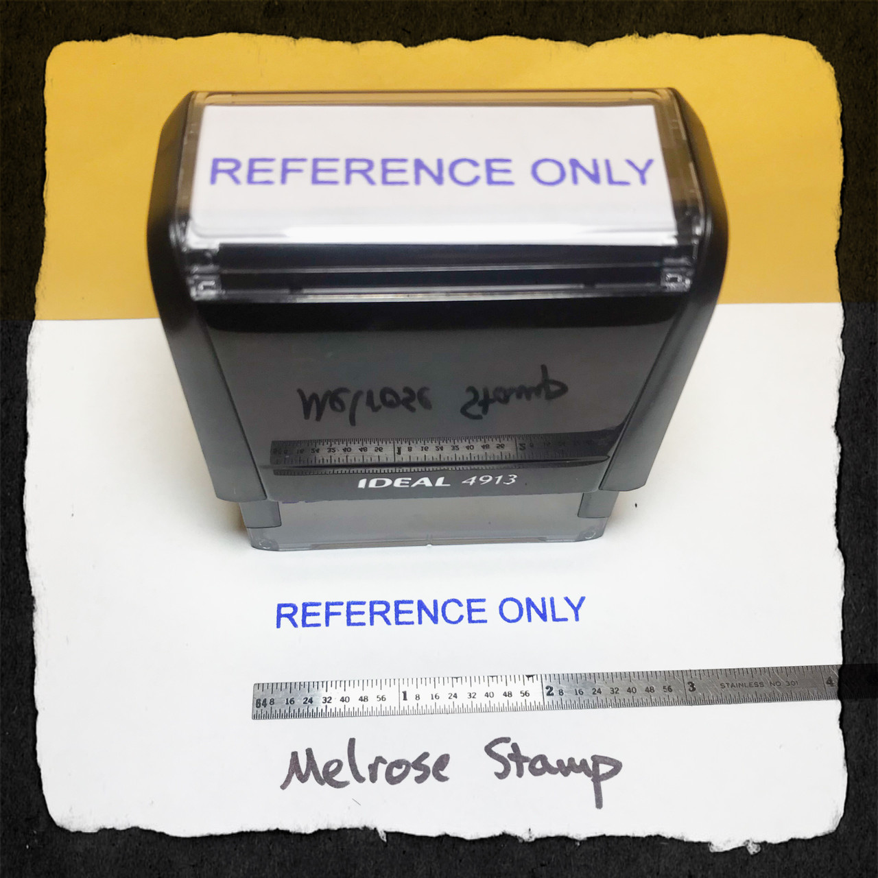 Reference Only Stamp Blue Ink Large