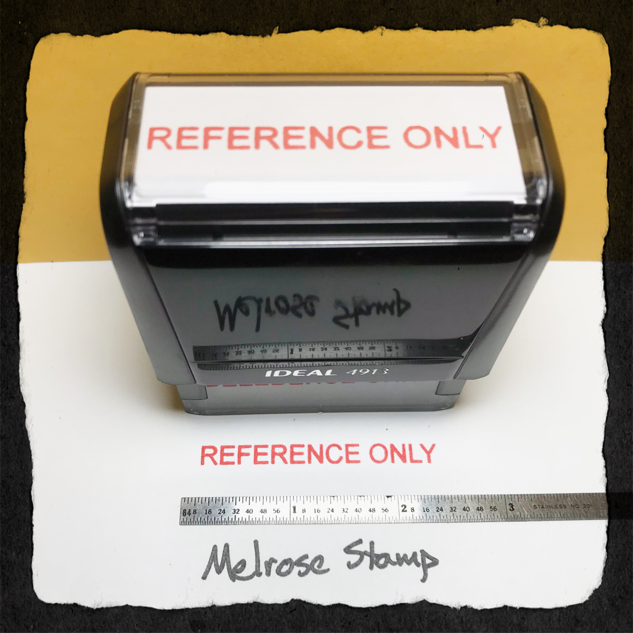 Reference Only Stamp Red Ink Large