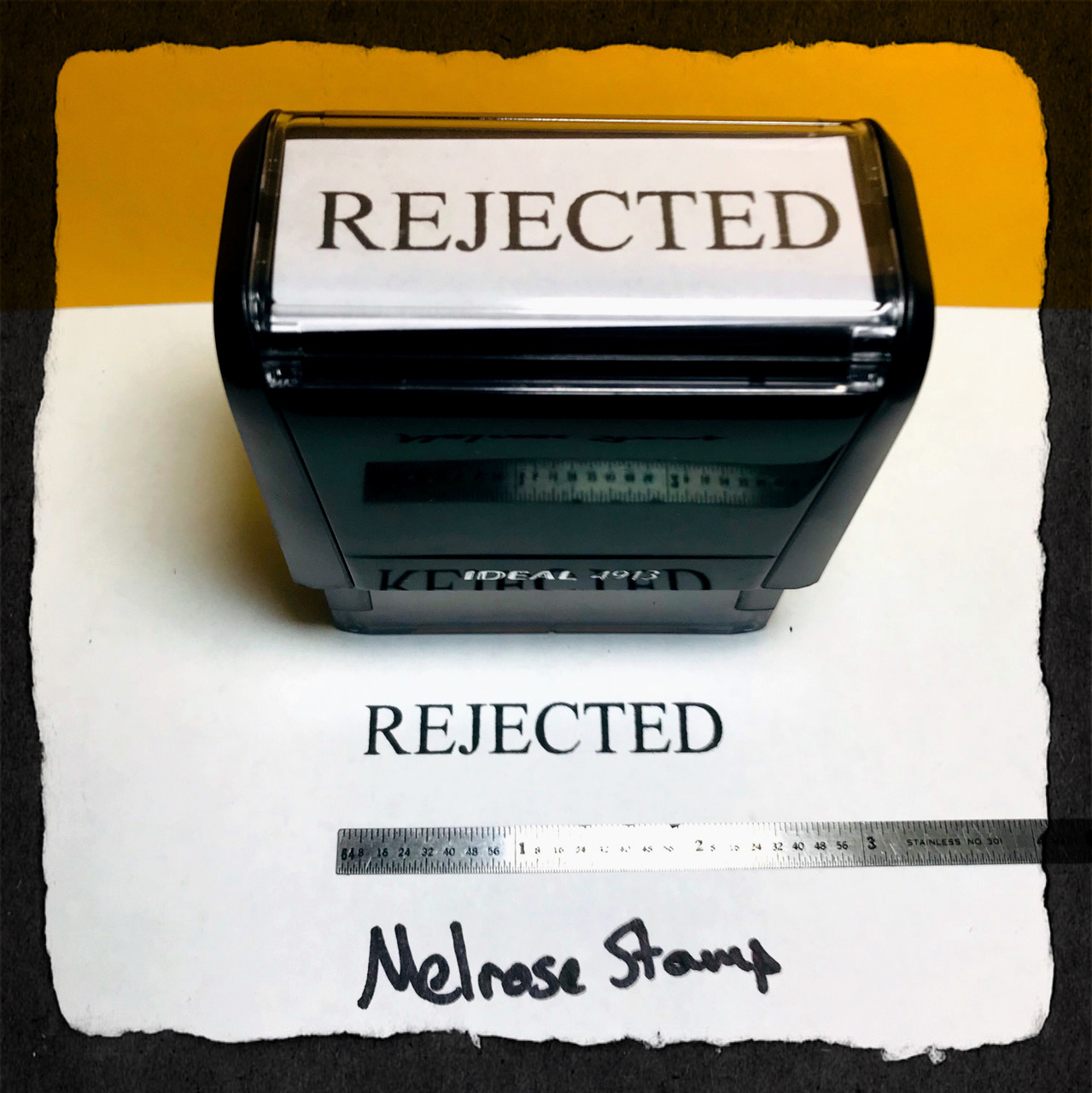 Rejected Stamp Black Ink Large