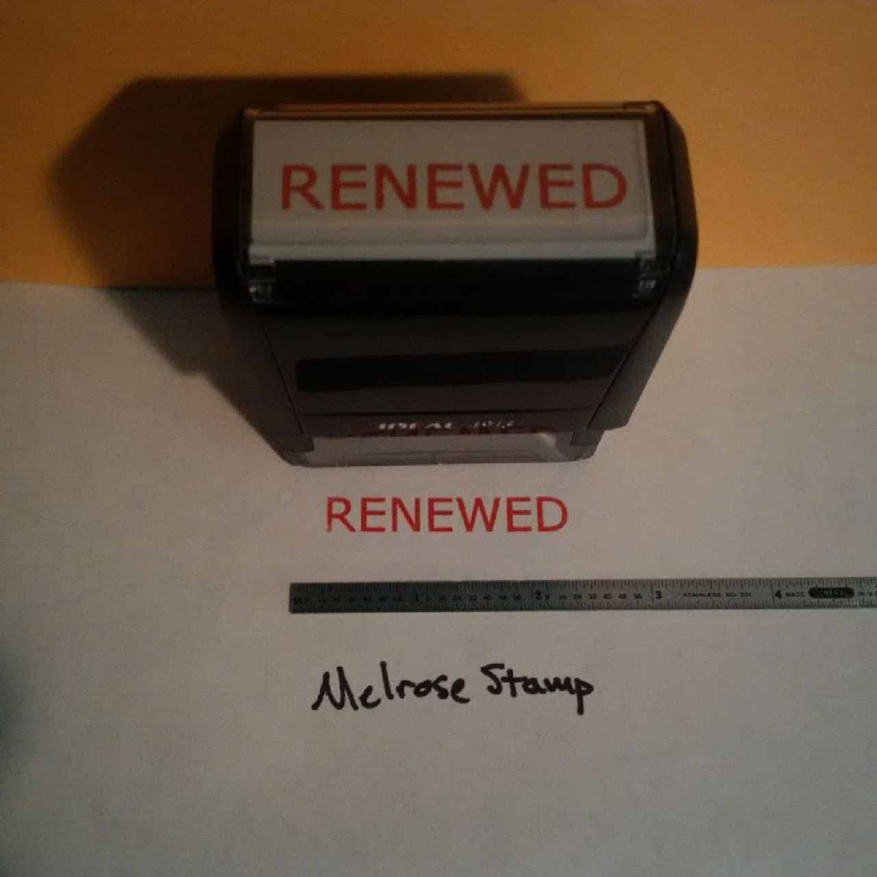 RENEWED Rubber Stamp for office use self-inking