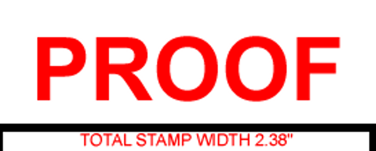 PROOF Rubber Stamp for office use self-inking