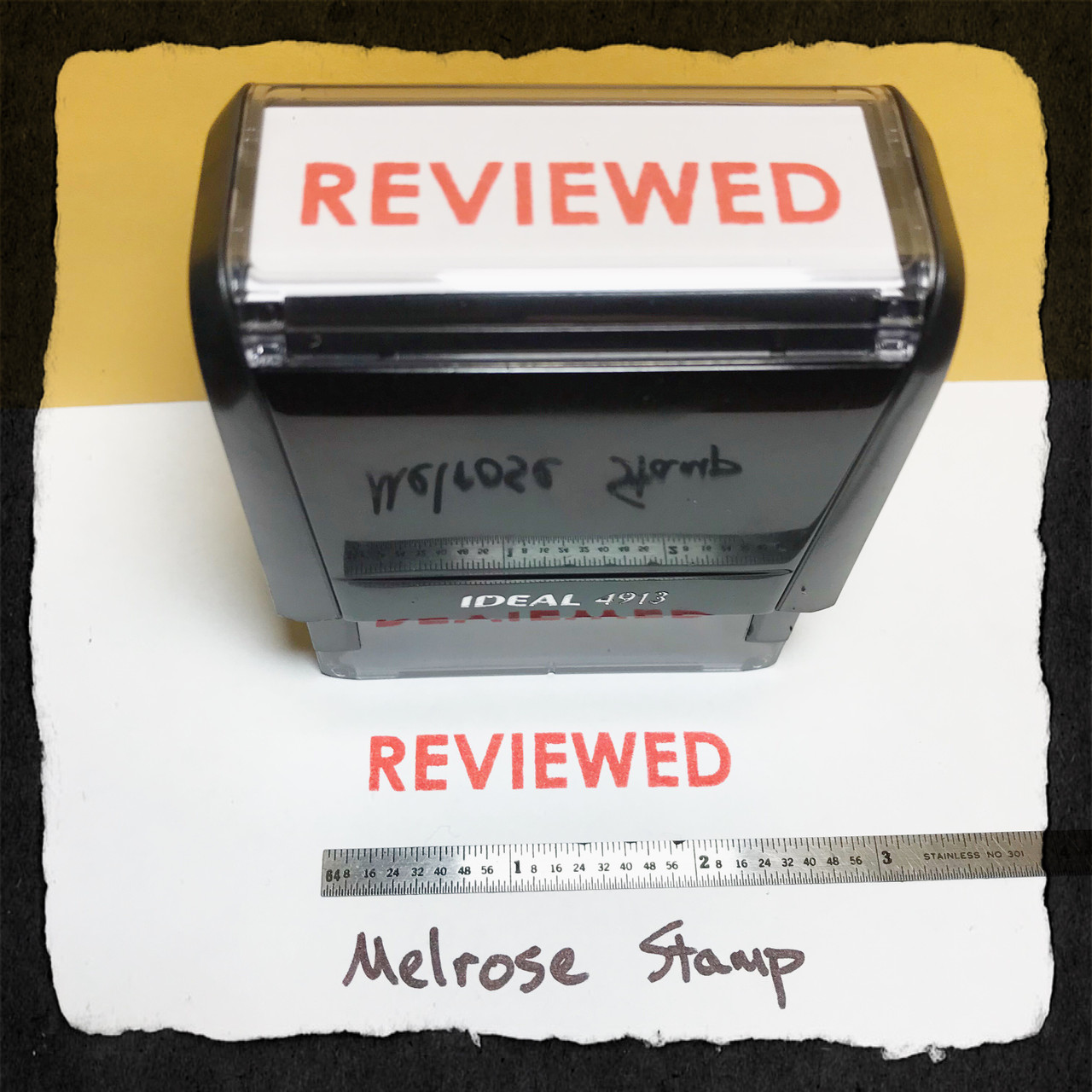 Reviewed Stamp Red Ink Large