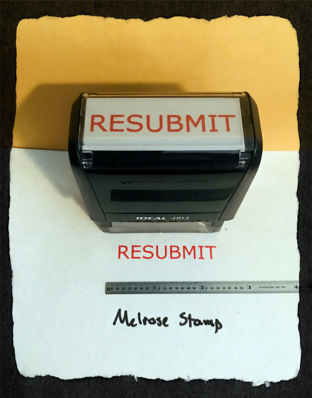 Resubmit Stamp Red Ink Large 2