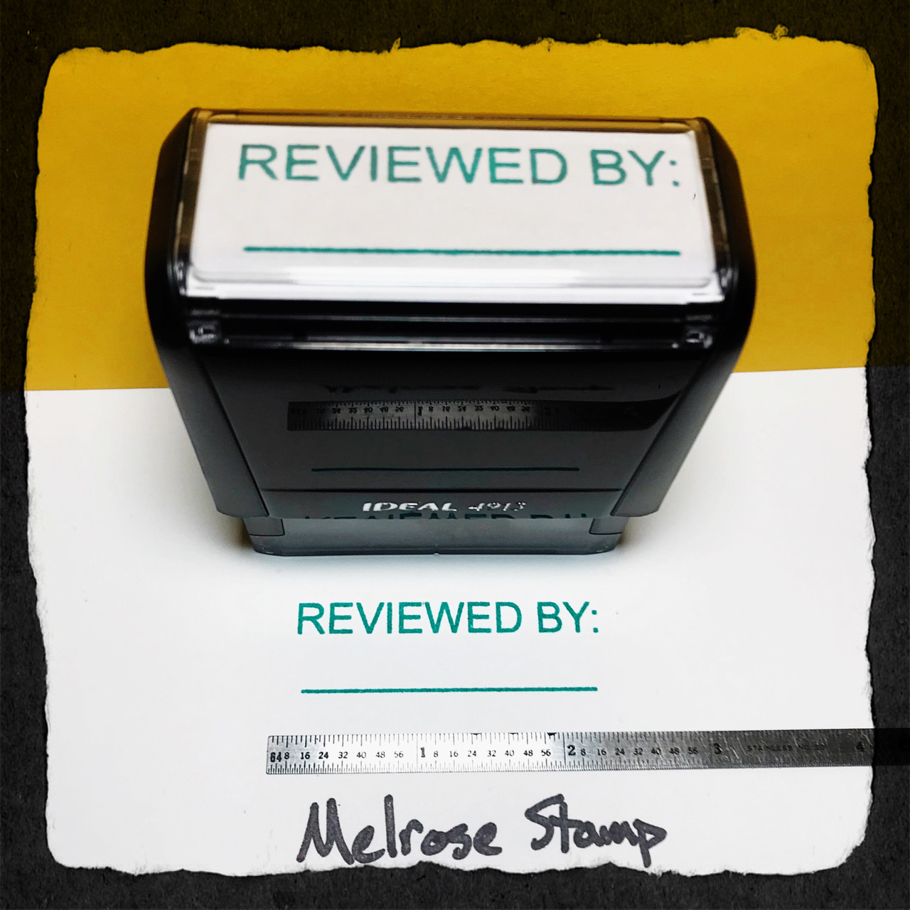 Reviewed By Stamp Green Ink Large