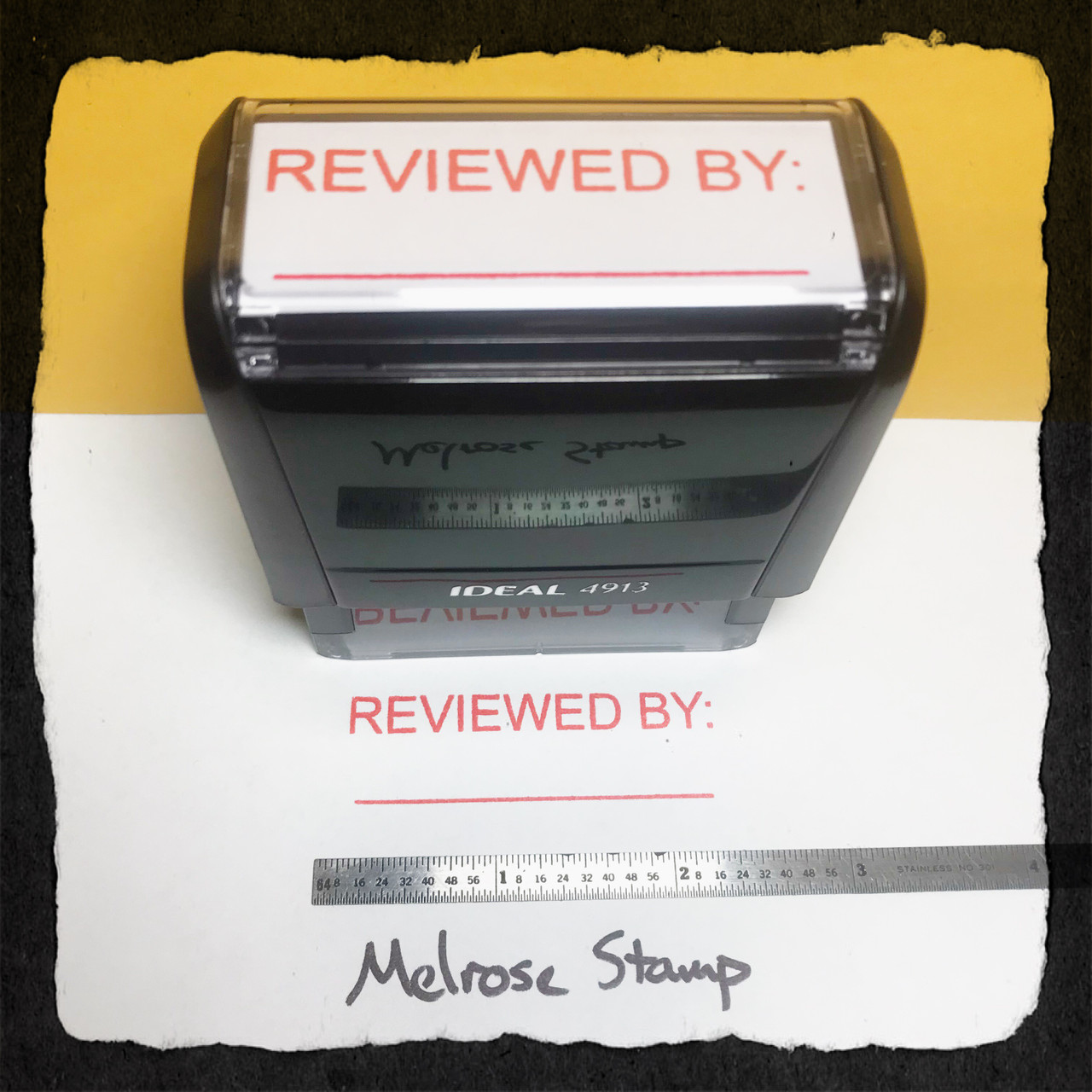 Reviewed By Stamp Red Ink Large