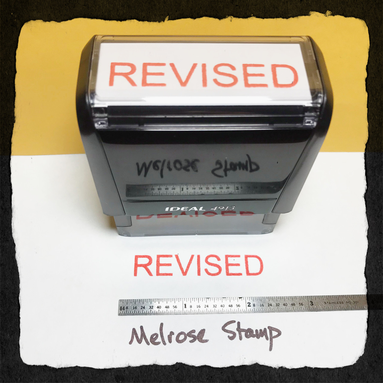 Revised Stamp Red Ink Large