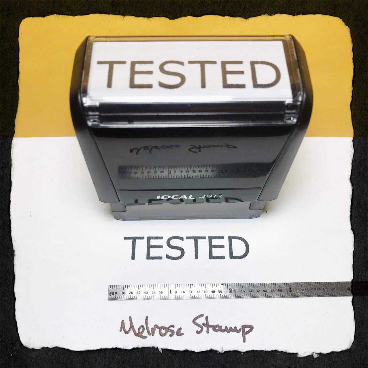 Tested Stamp Black Ink Large