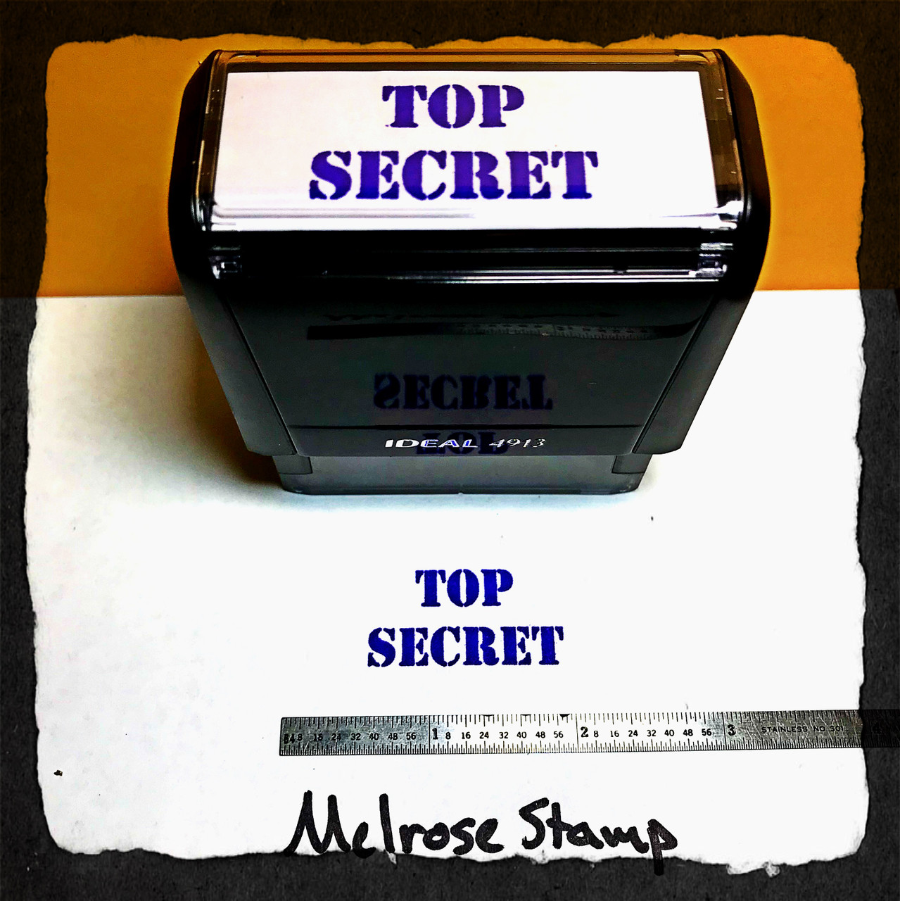 Top Secret Stamp Purple Ink Large