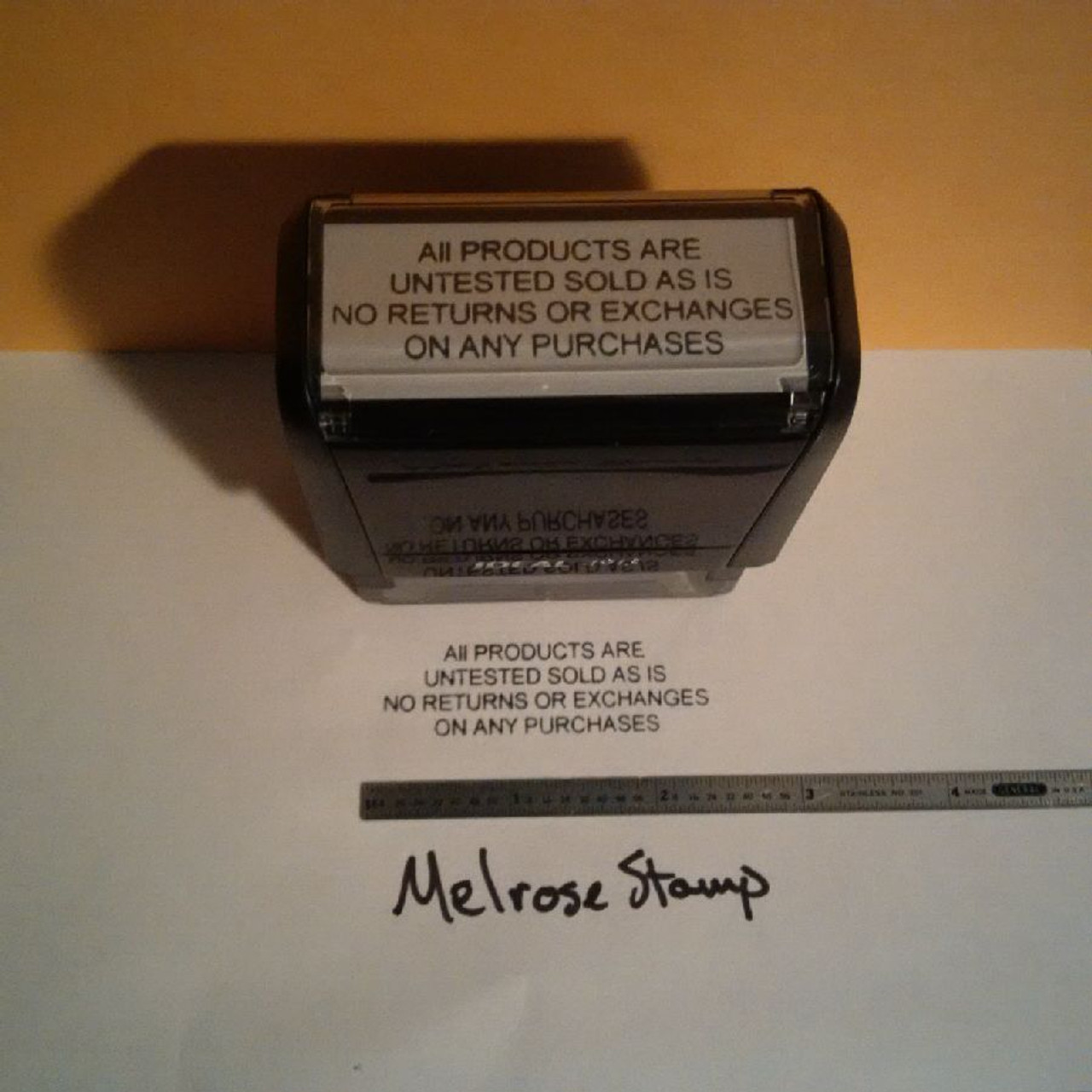 SOLD AS IS/ NO RETURNS...Rubber Stamp for office use self-inking