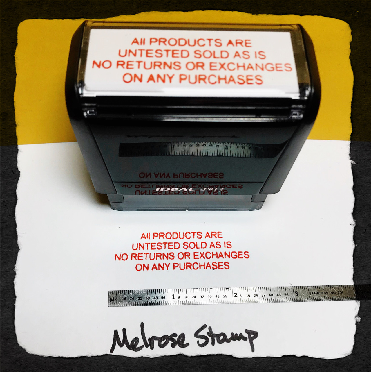All Products Are Untested Sold As Is No Returns Or Exchanges On Any Purchases Stamp Red Ink Large