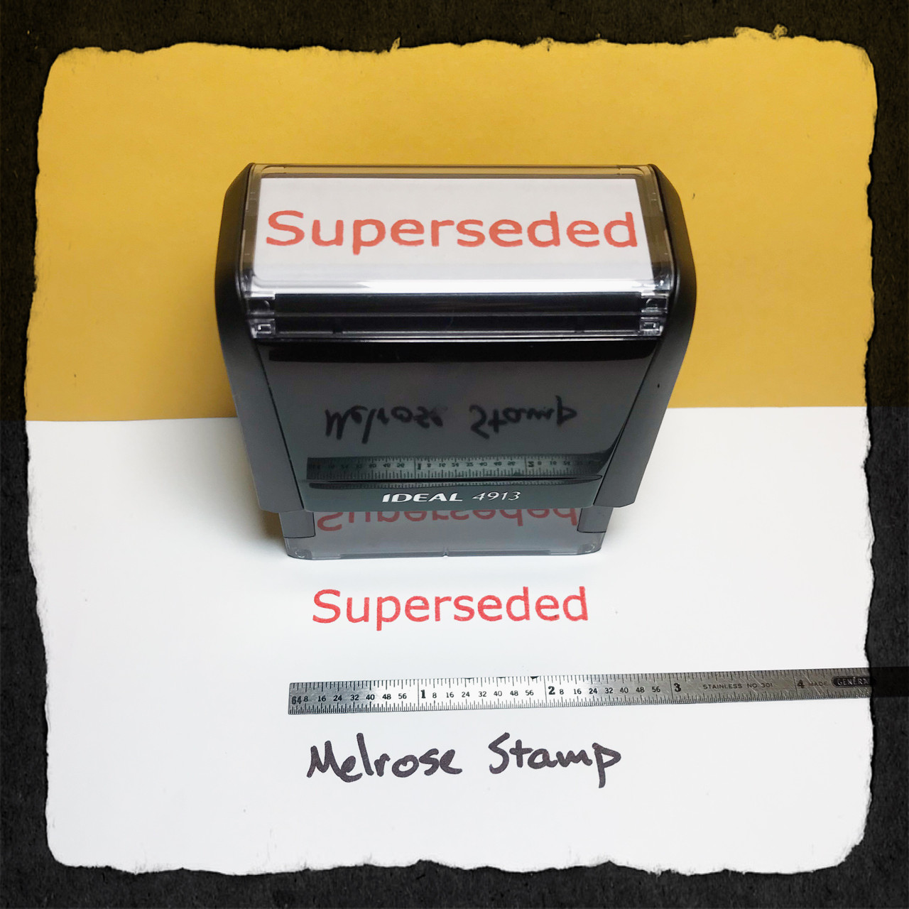 Superseded Stamp Red Ink Large