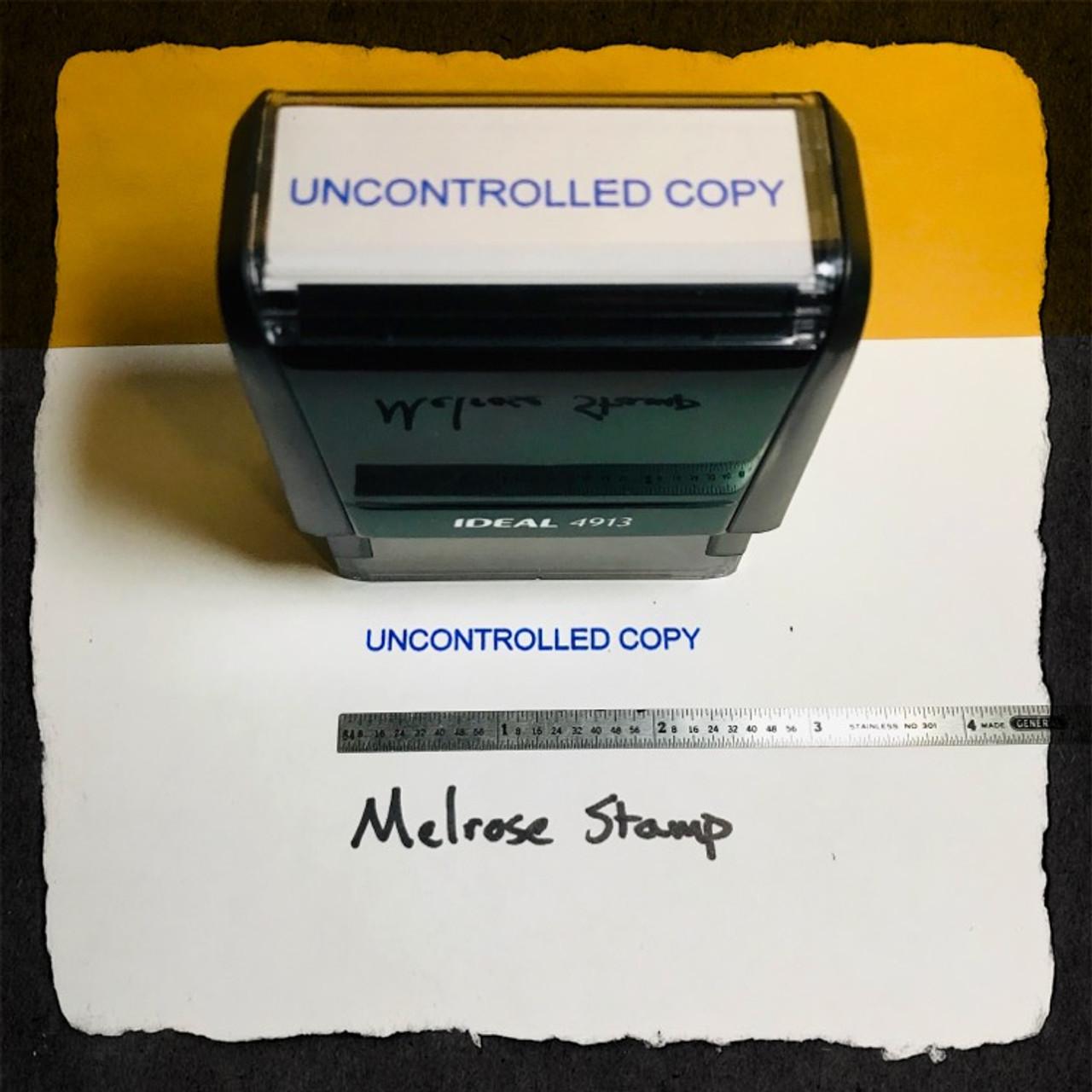 Uncontrolled Copy Stamp Blue Ink Large