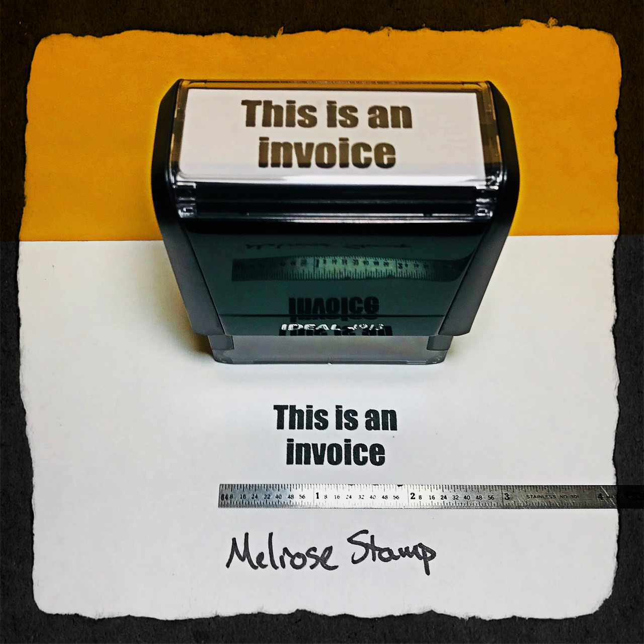 This Is An Invoice Stamp Black Ink large