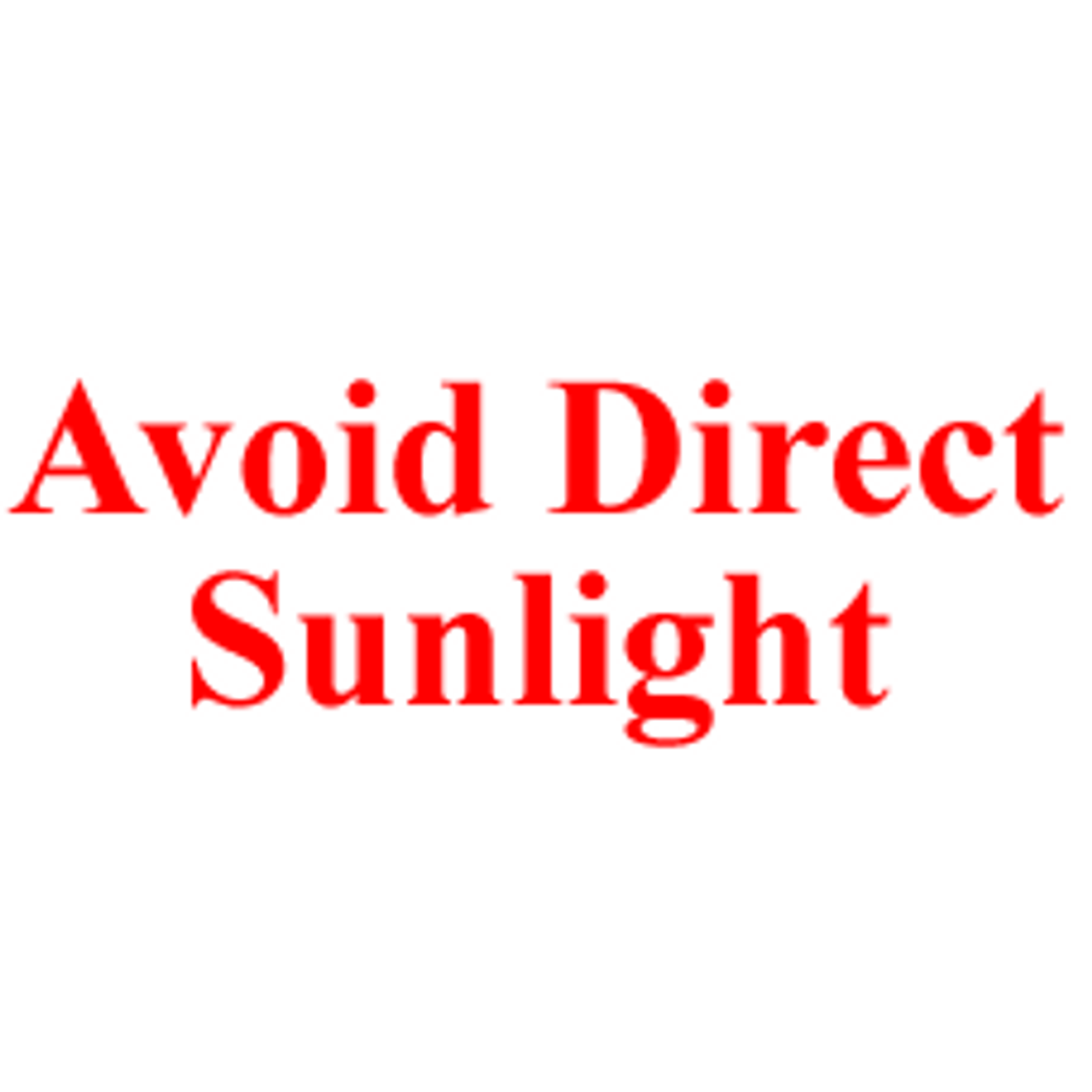 AVOID DIRECT SUNLIGHT Rubber Stamp for mail use self-inking