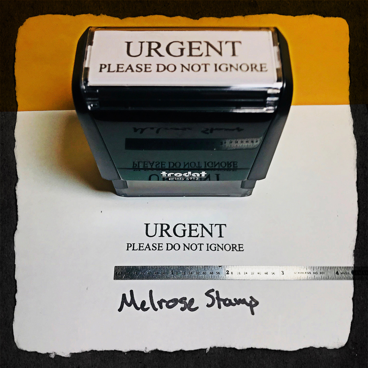 Urgent Please Do Not Ignore Stamp Black Ink Large