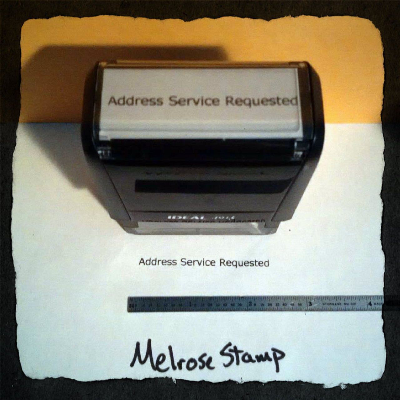 Address Service Requested Stamp Black  Ink Large