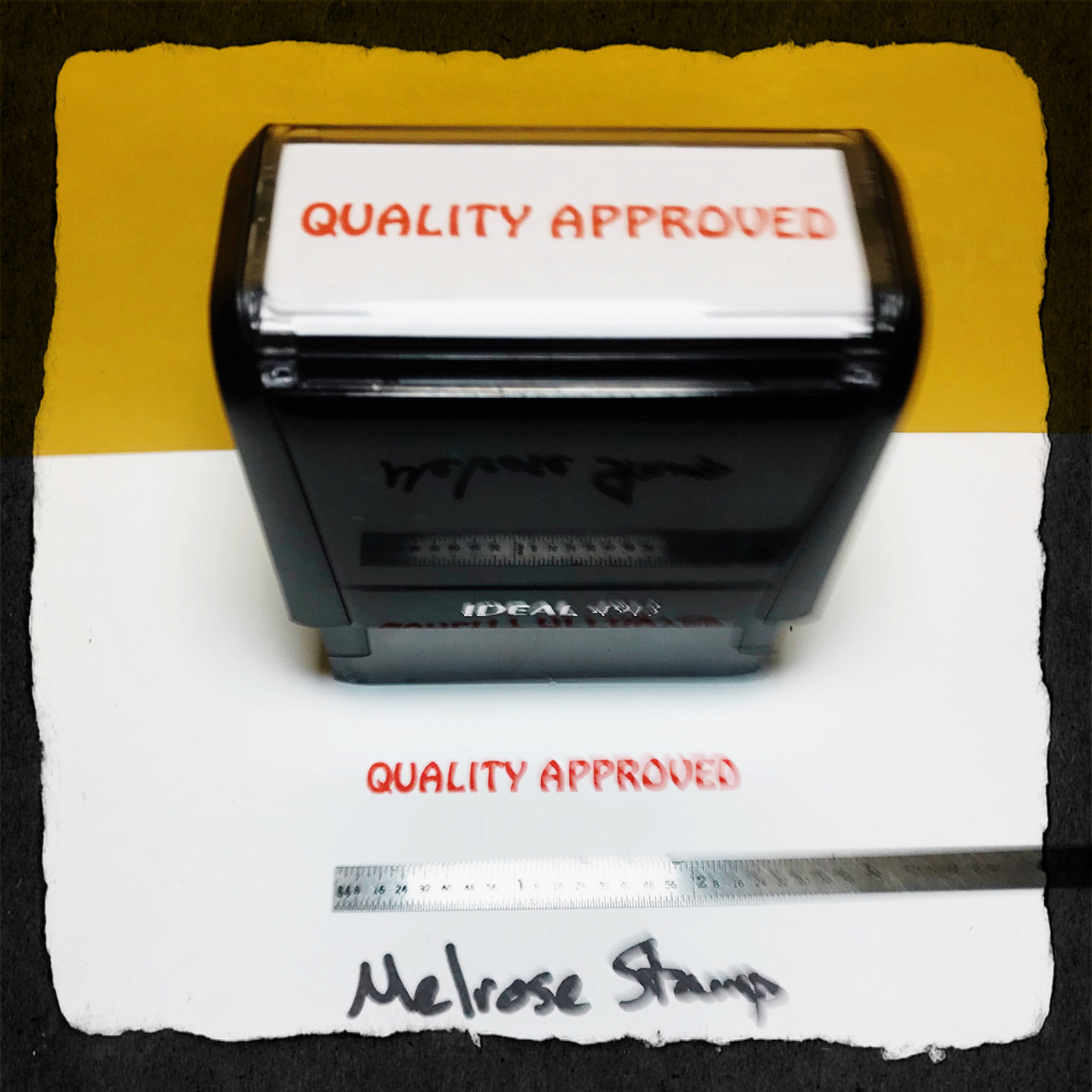Quality Approved Stamp Red Ink Large