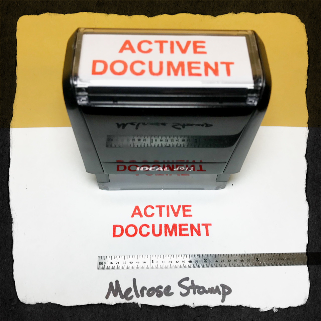 Active Document Stamp Red Ink Large