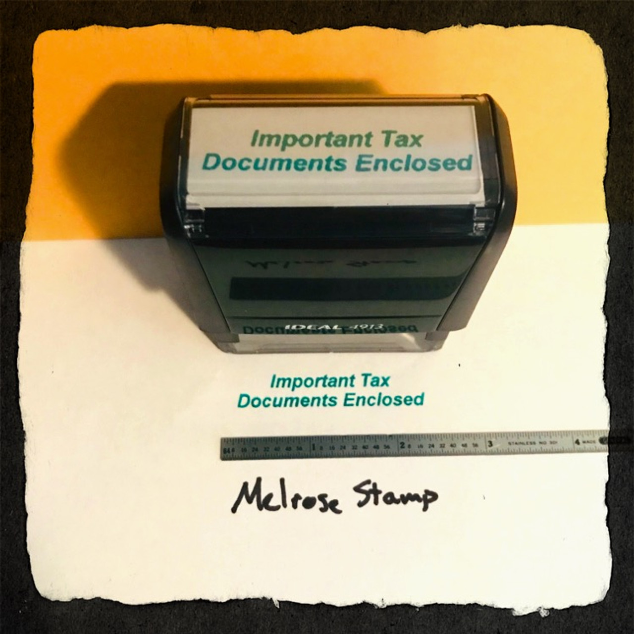 Important Tax Documents Enclosed Stamp Green Ink Large 2