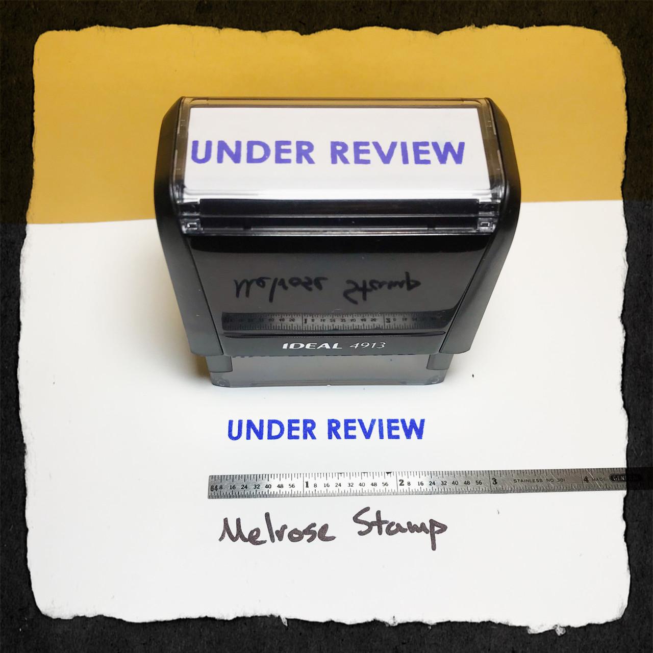 Under Review Stamp Blue Ink Large