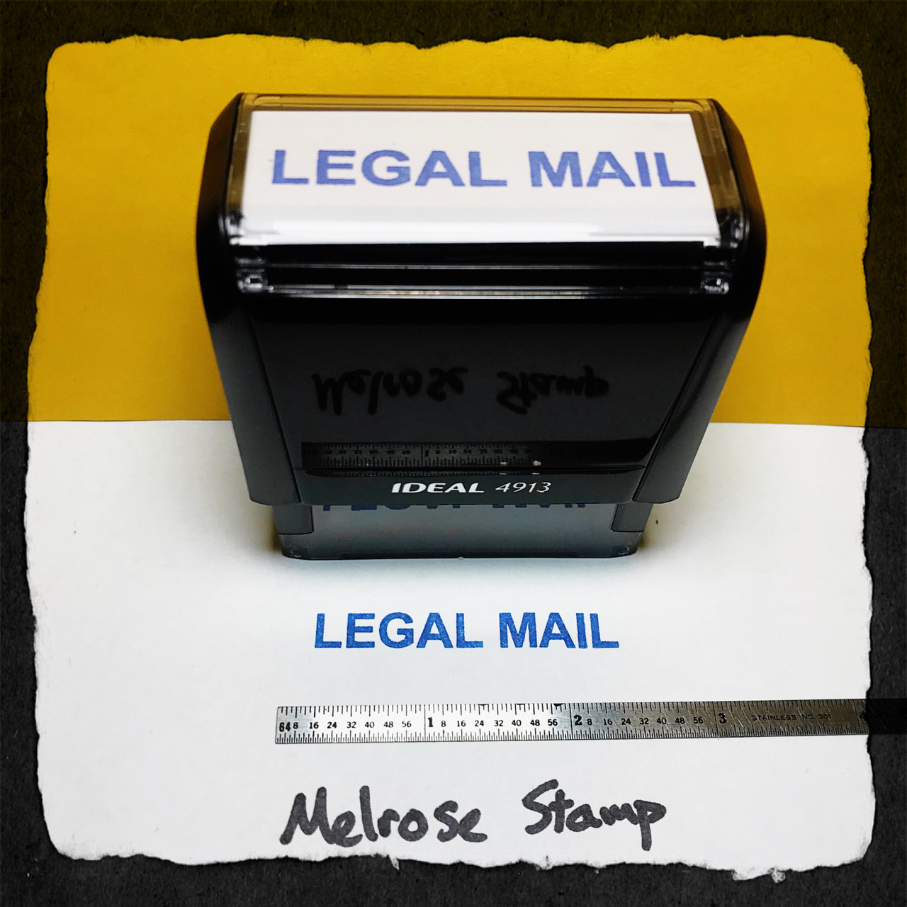 Legal Mail Stamp Blue Ink Large