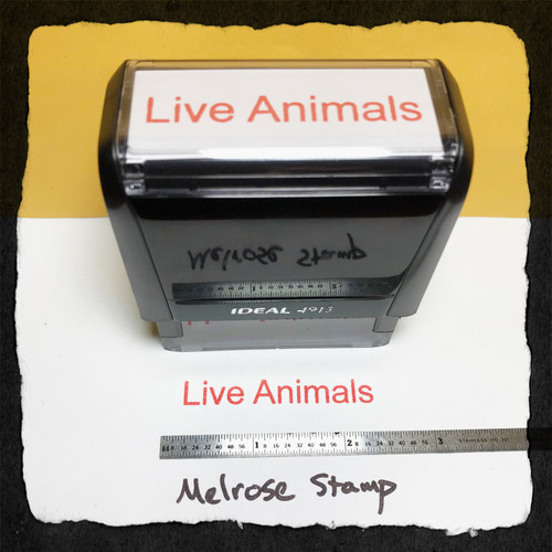 Live Animals Stamp Red Ink Large
