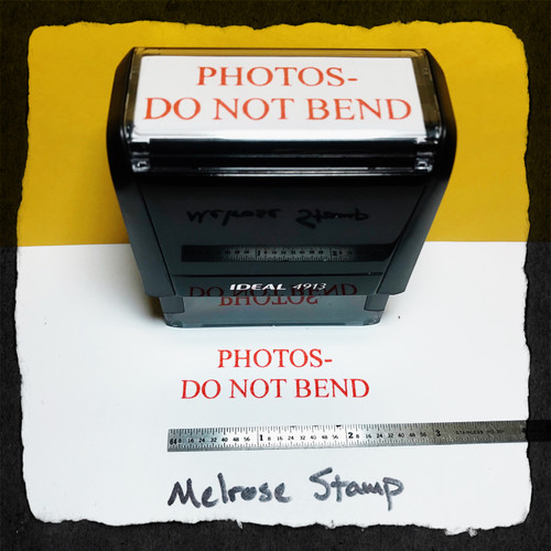 Photos Do Not Bend Stamp Red Ink Large