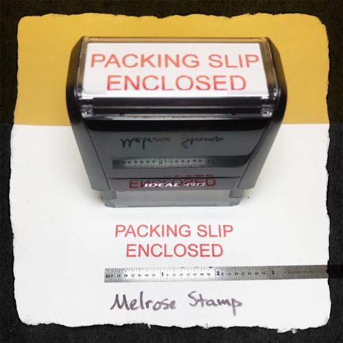 Packing Slip Enclosed Stamp Red Ink Large