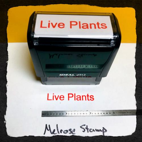 Live Plants Stamp Red Ink Large