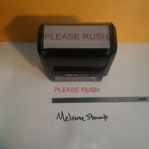 PLEASE RUSH Rubber Stamp for mail use self-inking