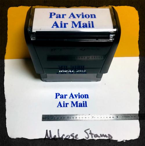 Par Avion Stamp Blue Ink Large