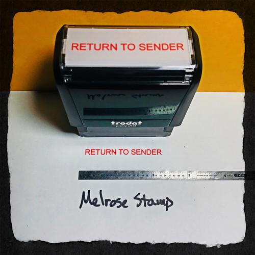 Return To Sender Stamp Red Ink Large