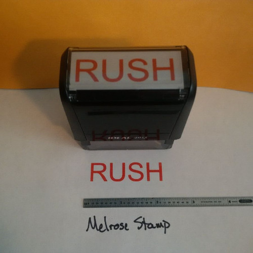 RUSH Rubber stamp for mail use self-inking