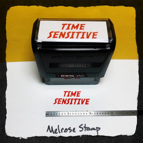 Time Sensitive Stamp Red Ink Large