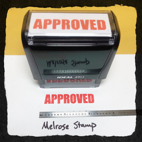 Approved Stamp Red  Ink Large