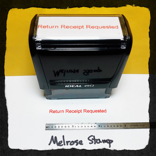 Return Receipt Requested Stamp Red Ink Large