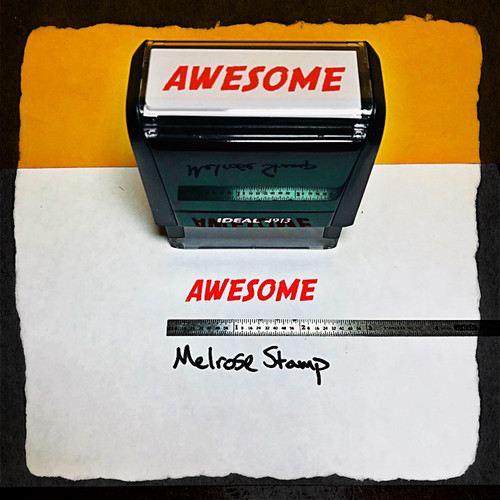 Awesome Stamp Red Ink Large