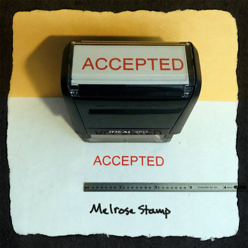 Accepted Stamp Red Ink Large 2