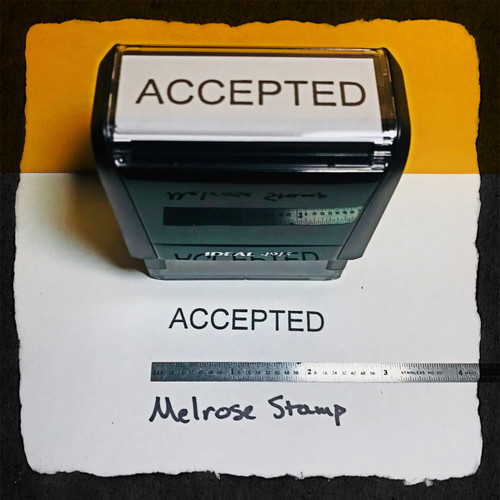 Accepted Stamp Black Ink Large