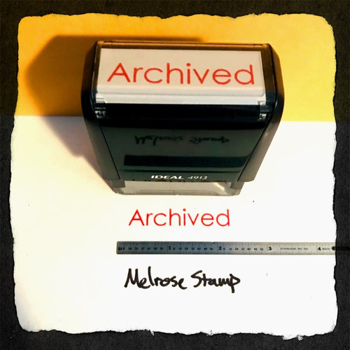 Archived Stamp Red Ink Large 2