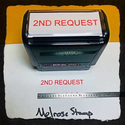 2nd Request Stamp Red Ink Large